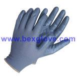 13のゲージポリエステルニトリルの働く手袋