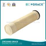 Высокий эффективный мешок пылевого фильтра ткани фильтра стеклоткани