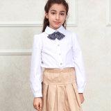 Chemise blanche bon marché internationale d'uniforme scolaire de chemise de polo d'école
