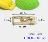 O saco parte a curvatura retangular do metal do Pin