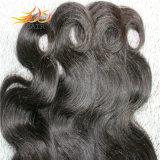 Do Weave malaio não processado do cabelo do Virgin 8A da onda do corpo cor natural