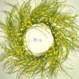 Da grinalda colorida da flor do jasmim de inverno do papel Handmade da mola Je191 flores artificiais