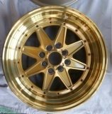 Roda bonita da liga da face do ouro diretamente da fábrica