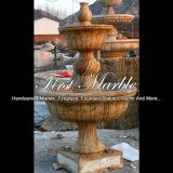 Сдержанный золотистый фонтан травертина для подарка Mf-574