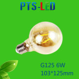 Bulbo del filamento de G125 4W 6W 8W 400-900lm Dimmable LED