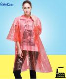 Poncho remplaçable de pluie de PE, poncho estampé de pluie, ponchos de pluie bon marché
