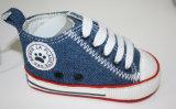 Jeans-Gewebe-Baby lädt Babyschuhe Ws17534 auf