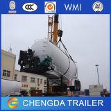 Acoplado a granel del petrolero del silo de cemento de los árboles 45cbm del chino 3