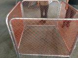 барьеры конструкции ткани звена цепи сетки 1100mm x 3000mm померанцовые