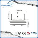 Lavabo blanc de Polymarble de salle de bains Acb6004