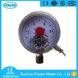 """4 """" 100mm 까만 강철 일반적인 전기 접촉 압력 계기"""