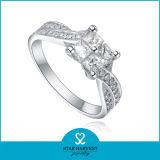 El más nuevo anillo de plata de ley 925 de regalos para la muestra libre (R-0149)