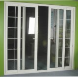 Puertas dobles interiores del vidrio del oscilación de la aleación de aluminio del precio barato