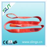 bride plate synthétique de sangle de 5t*8m avec le double oeil