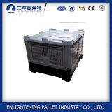 Boîte à palette 1200 x 1000 en plastique compressible avec le couvercle
