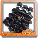 Afrouxar partes brasileiras do cabelo preto de jato da onda