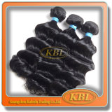Wellen-brasilianische Strahlen-schwarzes Haar-Stücke lösen