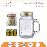 Il muratore di vetro marina i vasi con i coperchi