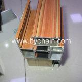 Perfis de alumínio de Slinding Windows do revestimento de madeira do pó