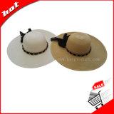 Sombrero de la mujer, sombrero flojo, sombrero de papel, sombrero de paja, sombrero de la manera