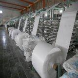tissu blanc du sac 60GSM tissé par pp en roulis