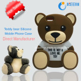 Urso da peluche para a caixa do telefone móvel do silicone de Samsung /iPhone 3D