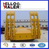 Tri As 60 Ton Aanhangwagen van Lowbed van de Semi die voor Graafwerktuig wordt gebruikt