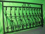 美しく装飾的な型の錬鉄のバルコニーの柵の手すり