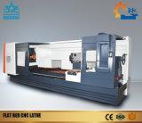 Torno del CNC de la base plana del bajo costo de la longitud del eje de 750m m Z