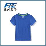 T-shirt rond de collier de couleur pure de la chemise des hommes faits sur commande