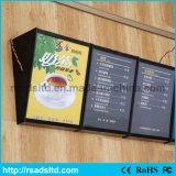 Cadre léger lumineux par photo acrylique professionnelle de menu du modèle DEL