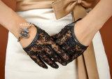 Сексуальные модные перчатки шнурка с Goatskin (GL001)