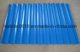 Bobina de acero cubierta color acanalada PPGI del material de material para techos PPGI