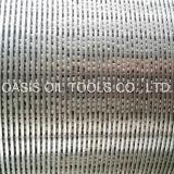 Filtro per pozzi del fondo del tubo dell'acciaio inossidabile per controllo della sabbia