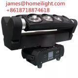 단계 DMX512 채널 두 배 헤드 당이 가벼운 RGBW 광속 LED 거미 8 눈에 의하여 점화한다