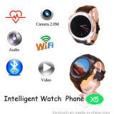 Teléfono inteligente 3G Watch con WiFi inalámbrico de red (X5)