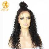 волос девственницы париков человеческих волос шнурка 8A Glueless парики человеческих волос фронта шнурка полных перуанских глубокие курчавые для чернокожих женщин с волосами младенца