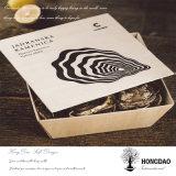 Rectángulos de empaquetado de madera de las ostras de la alta calidad de Hongdao con la insignia de encargo Wholesale_D