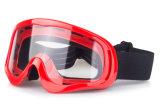 Motocross dos óculos de proteção da névoa OTG da única lente do PC anti que ostenta Eyewear