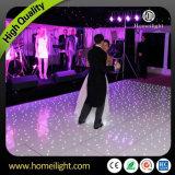 El envío libre 12 * 12black y negro iluminado por las estrellas LED Pista de baile de DJ Sensible a la Luz de LED para decoración de la boda del partido