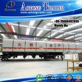 40000 litros de aluminio de la aleación de combustible/del agua/del vino del petrolero acoplado semi