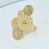 O New Product Jewrllery Ring Simple Style Classic 22k Gold Plated Rings Jewelry Free Shipping (R13A05453R1XS01)