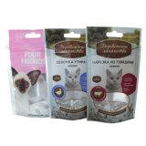 Sacchetto di plastica dell'alimento per animali domestici con l'euro foro