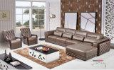 L mobilia del cuoio di figura, sofà dell'America, sofà di cuoio reale (659)