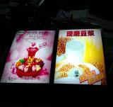 Sinal da caixa leve do menu/caixa leve do restaurante