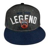 Изготовленный на заказ бейсбольная кепка Snapback фланели с передним логосом Gjfp17178
