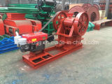 ClutchのHuahong Small Stone Diesel Jaw Crusher