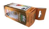 Boîte de papier de couleur de rectangle avec le couvercle de fermeture d'étiquette de repli