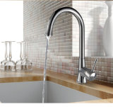 Le robinet de cuisine, traitement simple balayé d'acier inoxydable retirent le robinet de mélangeur de cuisine de pulvérisateur