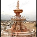 Fontana rossa Mf-653 di Ny della fontana della pietra della fontana della fontana di marmo del granito